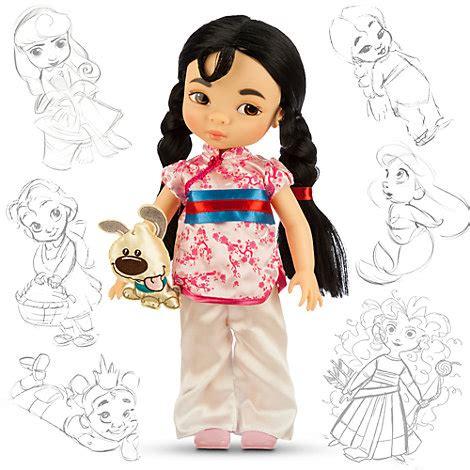 Animators Doll Original Disney Store bambola mulan collezione animator dolls