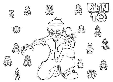 bens coloring pages alphabet ben 10 ditto free coloring pages