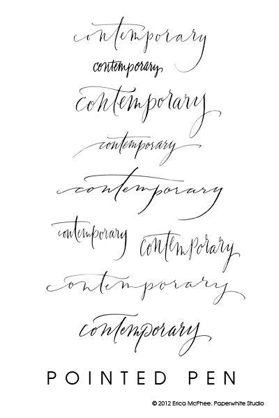 tattoo fonts editor contemporary calligraphy by erica mcphee paperwhite studio