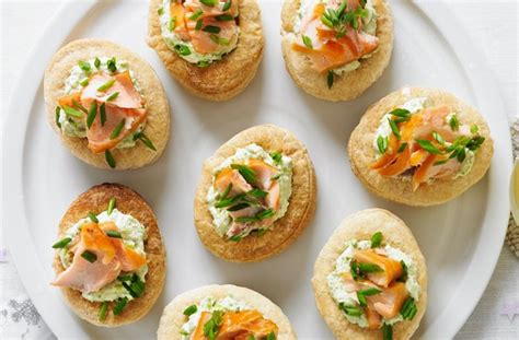 easy smoked salmon canapes 50 and easy canapes smoked salmon and pea vol au