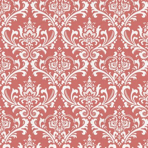 coral damask curtains coral damask fabric by the yard coral fabric carousel