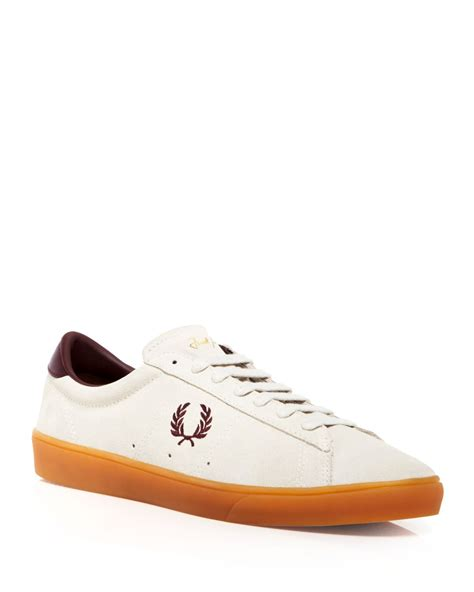 fred perry sneakers fred perry spencer suede sneakers in brown for lyst
