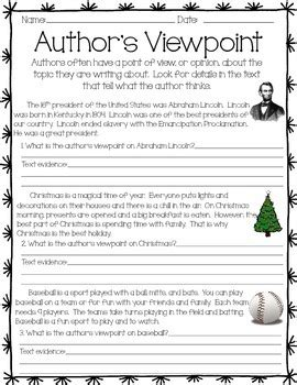 Author S Point Of View Worksheets by All Worksheets 187 Authors Point Of View Worksheets