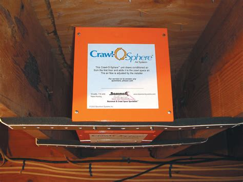 crawl space vent fan crawl space fan system to ventilate a crawl space in