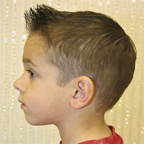 young boys haircuts short back and sides longer on top spiked front short back and sides kids pinterest