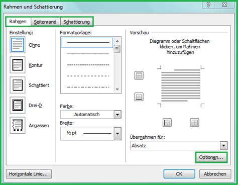 Lebenslauf Vorlage Zum Einfugen Rahmen Seitenrand Linien Und Schattierungen In Word Dokument Einf 252 Office Lernen