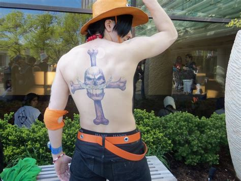 ace one piece back tattoo portgas d ace at acen 2 by ladymischievous on deviantart