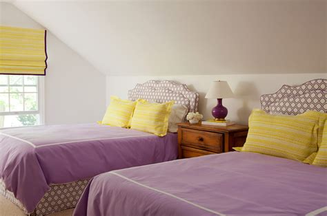 yellow and purple bedroom purple and yellow bedroom cottage s room amanda nisbet design