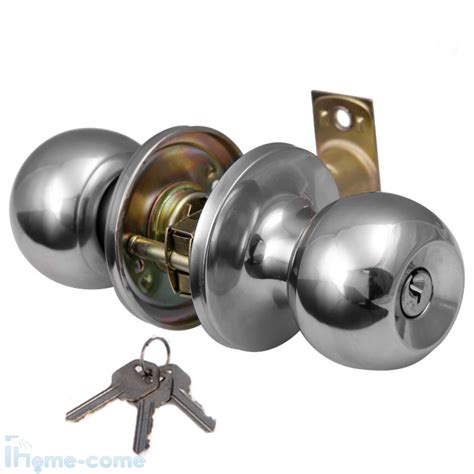 entrance lock latch handles door knob sets chrome