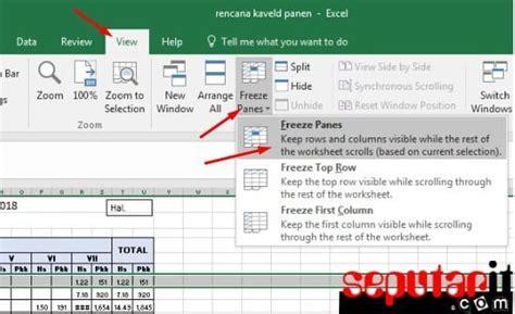 cara membuat header tabel di excel tidak bergerak ini dia cara membuat judul di excel tidak bergerak saat di