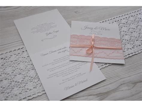 einladungskarten hochzeit rosa einladungskarte hochzeit mit rosa stoffspitze