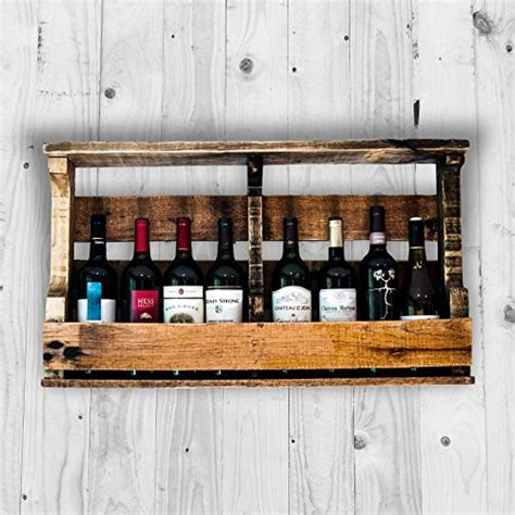 liquor wall rack pallet wine rack liquor rack wall mounted made from rustic ebay