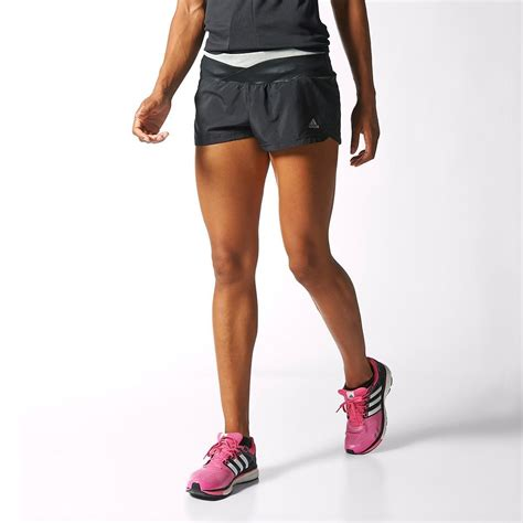 adidas womens supernova glide shorts blackgrey tennisnutscom