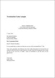 Termination Letter Format Employee Termination Letter Real Estate Forms