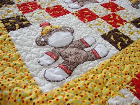 Sock Monkey Quilt by Show And Tell Sock Monkey Baby Quilt Quilt