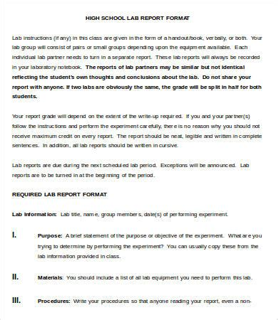 lab report template 10 free word pdf documents