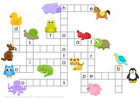Puzzle Animal animals crossword puzzle free printable puzzle