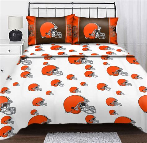 nfl bed sheets nfl cleveland browns logo full sheets 4pc football