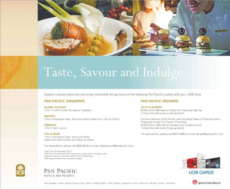 uob singapore new year promotion uob dining promotions at pan pacific singapore orchard