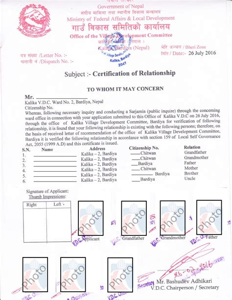 Letter Proof Relationship Relationship Certificate With Sponser Kiec