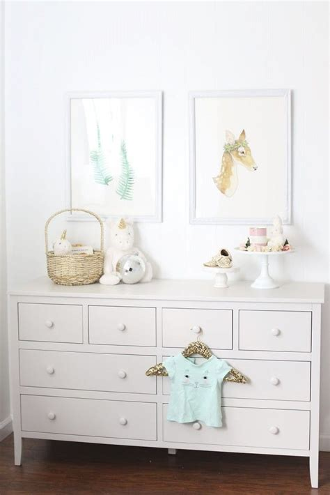 pottery barn dresser baby melissa s adorably chic pink white nursery reveal