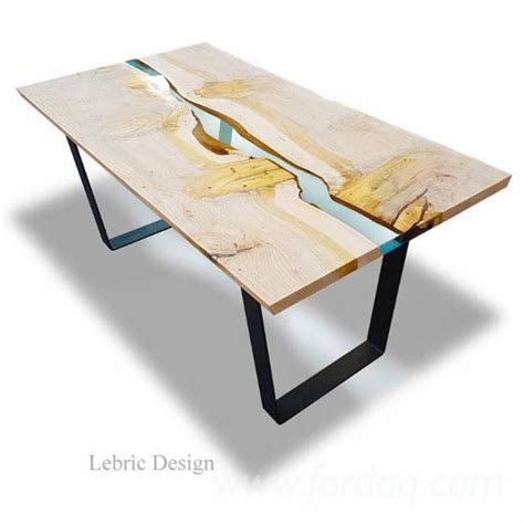 Wood Dining Room Tables wood and epoxy resin table