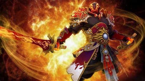 dota  ember spirit fighter sword fire jewelry game fan