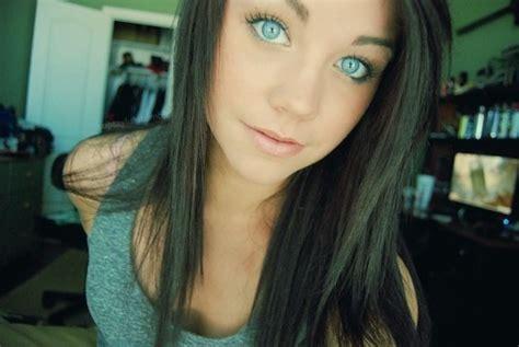 beautiful blue eyes brunette girl selfie forums mibba