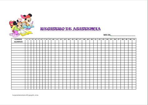 registro de asistencia el blog de olimpia recursos de educaci 211 n infantil registro de asistencia