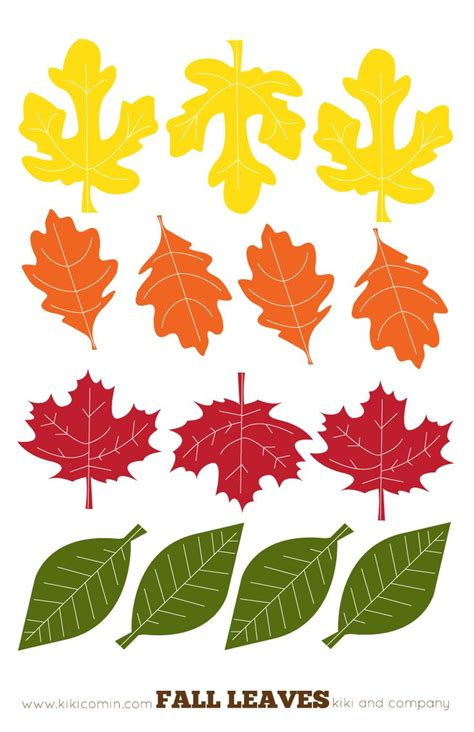 large printable fall leaves fall leaf garland homeschool seasonal fall pinterest