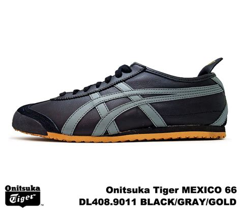 Po Original Onitsuka Tiger Mexico 66 Yellow Mustard White D6e9l 7102 premium one rakuten global market onitsuka tiger mexico 66 mexico black grey gold onitsuka
