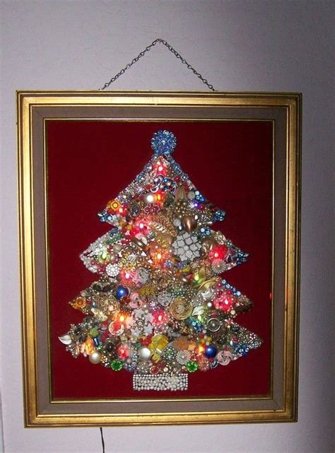 costume jewelry lighted christmas tree