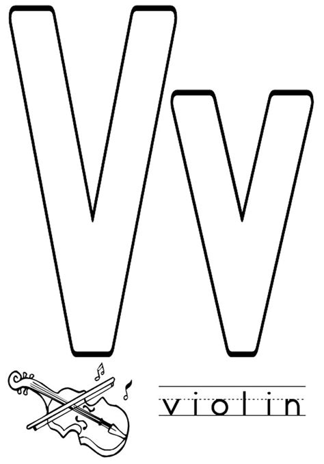 letter v coloring pages to download and print for free