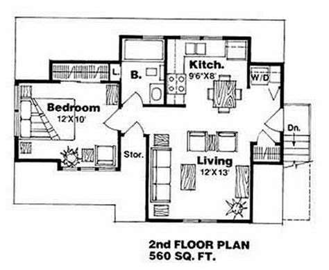 garage floor plans with bathroom traditional style house plan 1 beds 1 baths 560 sq ft