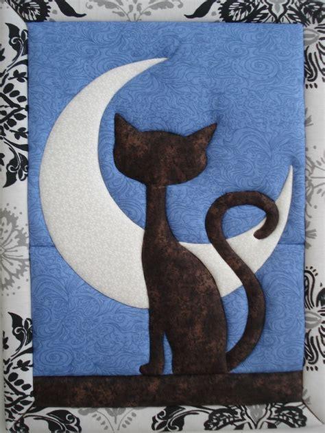 Blue Cats Patchwork - gato mirando a la falso patchwork manualidades