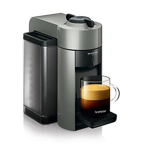 nespresso bed bath beyond nespresso 174 vertuoline evoluo coffee espresso maker in grey