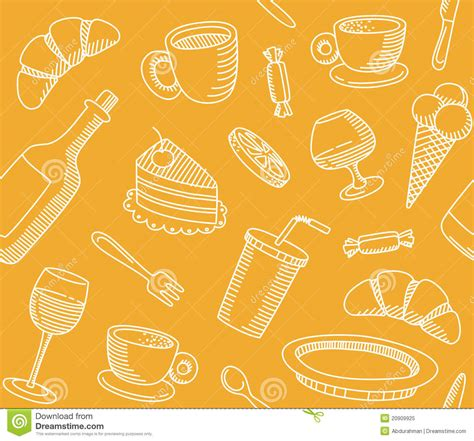 Kitchen Design Drawings seamless background that a cafe theme royalty free stock