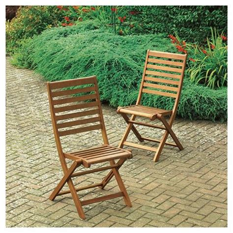 buy wooden folding garden dining chair 2 pack