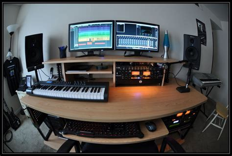 modern recording studio desk for home recording studio