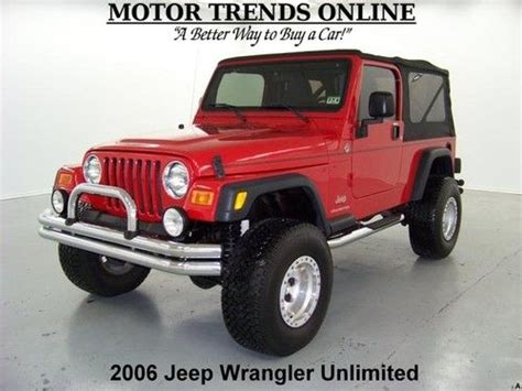 2006 Jeep Unlimited Soft Top Buy Used Unlimited Lwb 4x4 Lifted Soft Top Chrome Bumpers