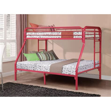 Bunk Bed Business Metal Bunk Bed Pink Dcg Stores