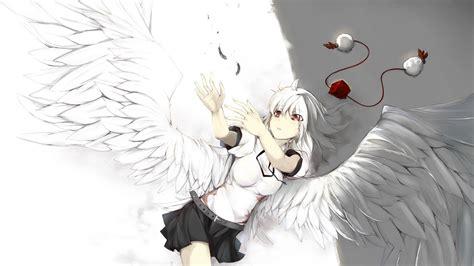 anime girl white hair wallpaper anime anime girls belts feathers hats red eyes ribbon
