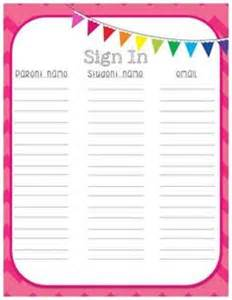 Back To School Sign In Sheet Template by 1000 Ideas About Sign In Sheet On Open House