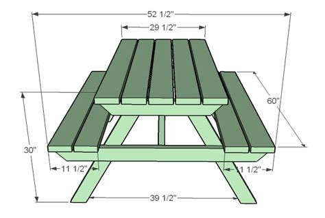 picnic table plans ana white