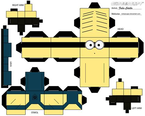 Minion Papercraft - minion no 2 cubeecraft by melopruppo on deviantart