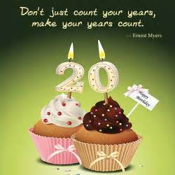 Happy 20th Birthday Quotes 20th Birthday Happy 20th Birthday Quotes Quotesgram