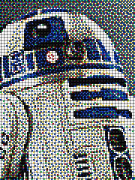 wars pixel templates r2d2 wars with pixel quercetti wars