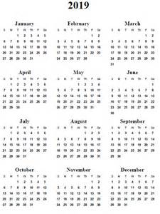 whole year calendar template 5 best images of 2019 yearly calendar printable free