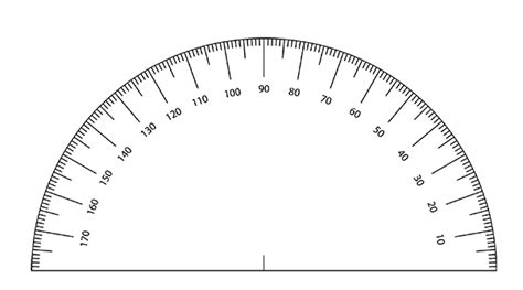 printable protractor small free printable protractor template paper protractor