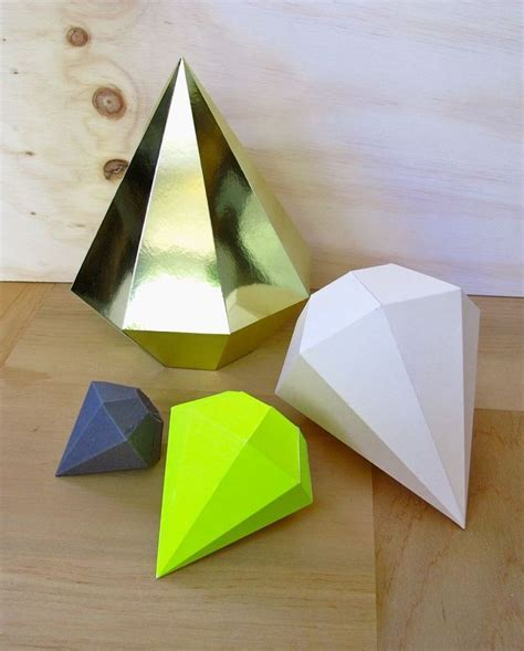 How To Make Diamonds Out Of Paper - the family jewels template crafting